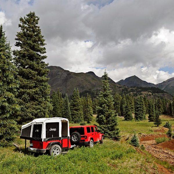 jeep towing popup camper